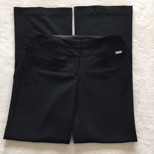 Editor Black Pinstripe Barely Boot Dress Pants